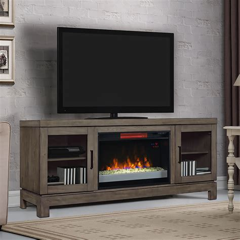 electric fireplace tv stand berkeley infrared electric fireplace tv stand w glass in