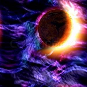 Alle Sitzmöbel In Einem Raum : eine abstrakte raum illustration mit einem planeten und sternenhimmel nebel stockfoto colourbox ~ Bigdaddyawards.com Haus und Dekorationen