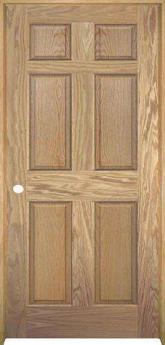 oak doors menards  panel oak doors