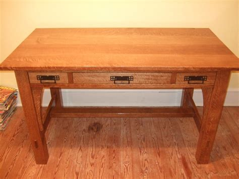 craftsman style writing desk finewoodworking