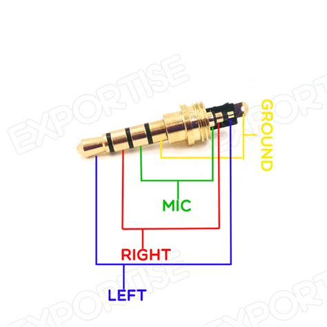 3 5mm Stereo Wiring by New Headphone Audio 3 5mm Connector Adapter Gold