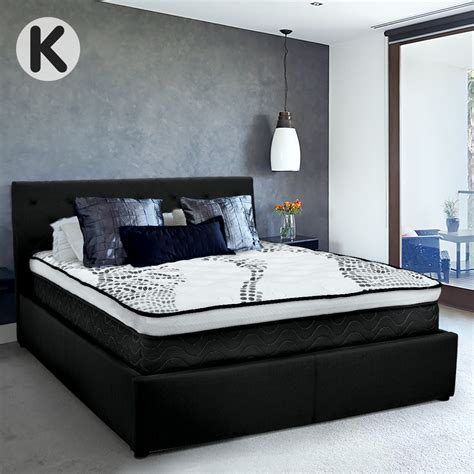 Where Can I Buy A Headboard For My Bed by Buy King Fabric Gas Lift Bed Frame With Headboard Black