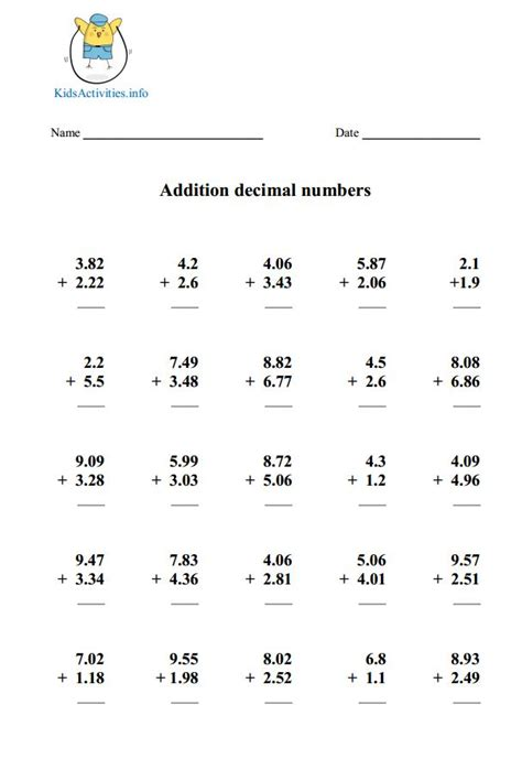 multiplying decimals worksheet pdf worksheets for all
