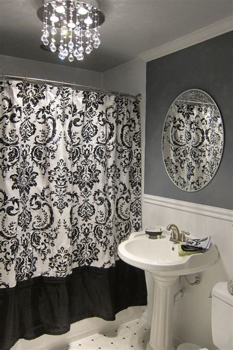 ideas  damask bathroom  pinterest grey