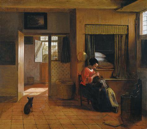 interior with a delousing child c 1660