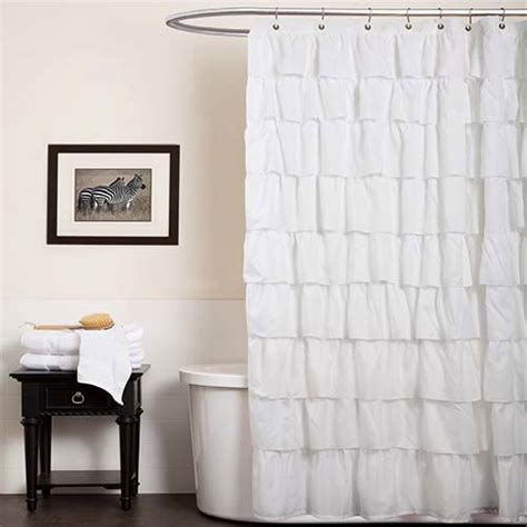 lush shower curtain ruffle white shower curtain lush decor shower curtains