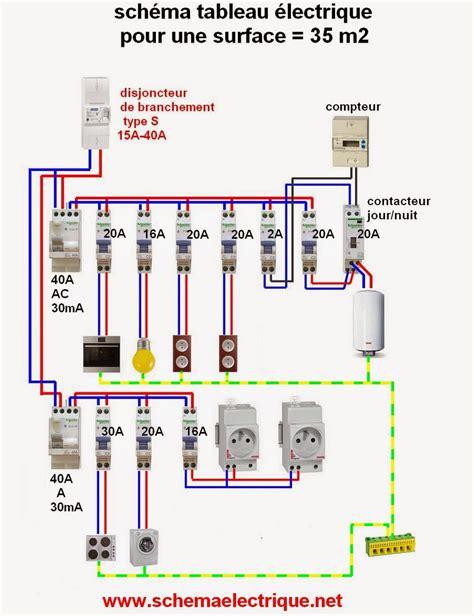 installation electrique cuisine schéma tableau electrique domestique câblage et