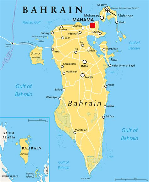 Bahrain Map - Guide of the World
