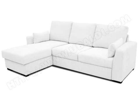 canapé ubaldi canapé lit ub design loubna angle réversible en pu blanc