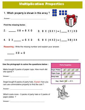 3oab  Third Grade Math Worksheets Biglearners