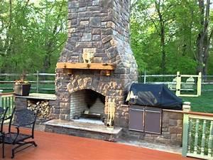 Interior : Outdoor Fireplace Construction Art Deco
