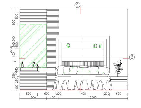 Bedroom elevation CAD dwg - CADblocksfree -CAD blocks free