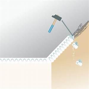 Corniche Polystyrène Pour Plafond : retirer des moulures au plafond plafond ~ Premium-room.com Idées de Décoration