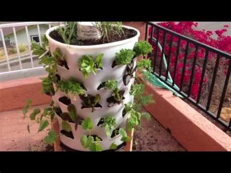 how to set up a garden how to set up vertical garden tower part 1 grow your own vegetables hypnotica youtube