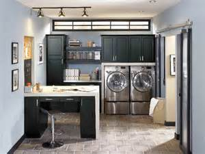 laundry room in kitchen ideas makeover laundry room design with washer dryer storage wooden cabinet painted with black