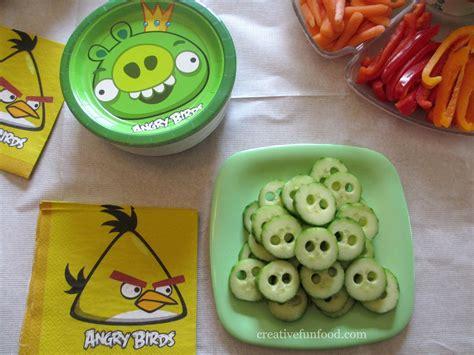creation cuisine creative food angry birds birthday ideas