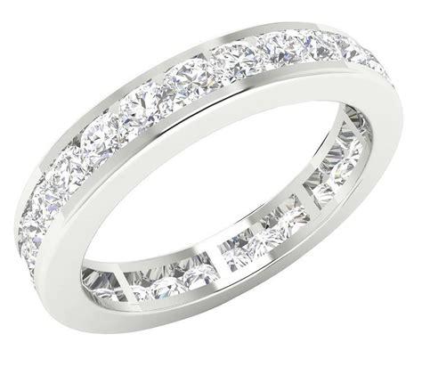 eternity ring engagement band ct genuine diamond