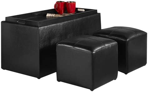 black leather storage ottoman the cyber monday black ottoman big sales with reviews