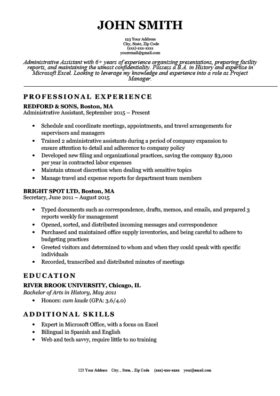 Simple Professional Resume Template by Expert Preferred Resume Templates Basic Simple