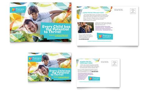 adolescent counseling postcard template word publisher