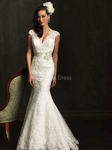 lace mermaid wedding dress with short sleeves sang maestro With lace mermaid wedding dress