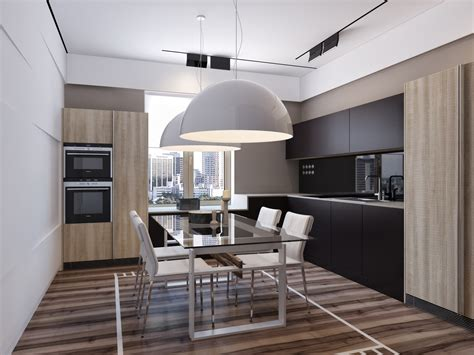 Minimalist Dining Room Designs Includes With Kitchen