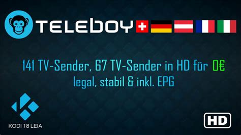 livetv teleboy addon tutorial kodi  german