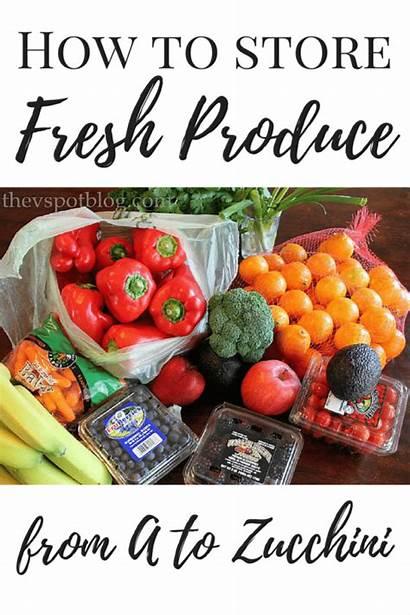 Fresh Produce Zucchini Way Vegetables Fruits Storing