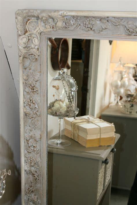 reloved rubbish paris gray   white mirror