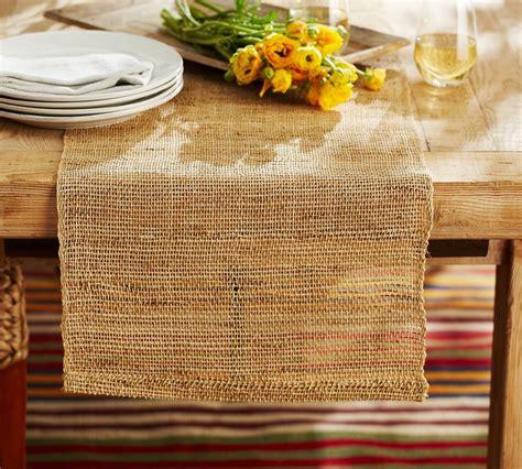 pottery barn christmas table runner open weave natural fiber table runner