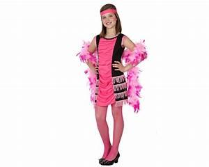 deguisement robe et bandeau charleston roses fille deguizeo With robe deguisement fille