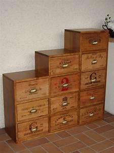 nos meubles caisses de vin l39atelier With meuble avec caisse de vin