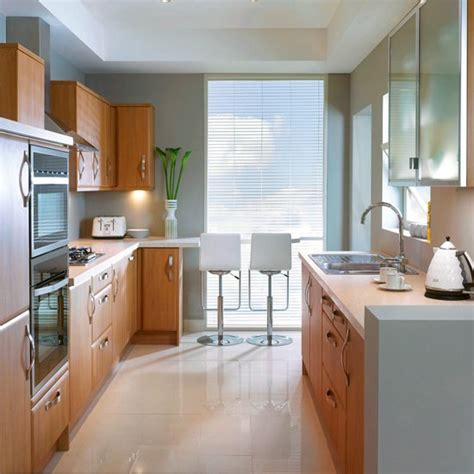 galley kitchen with breakfast bar small galley kitchen with dining area designs uk house 6781