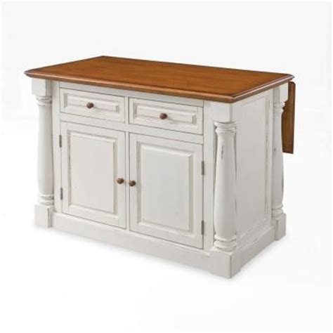 kitchen island with drop leaf home styles monarch distressed oak drop leaf kitchen island in white 5020 94 the home depot