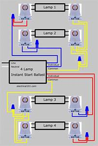 How To Replace 4 Lamp Series Ballast With Parallel