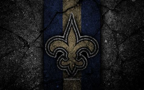wallpapers   orleans saints logo black