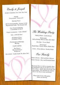 wedding programs template free sle wedding program template