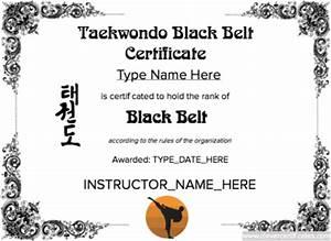 taekwondo black belt certificate template free to With taekwondo certificate templates