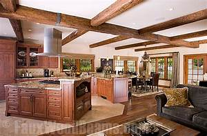Kitchen Design Ideas Sprucing Up Ceilings with Beams
