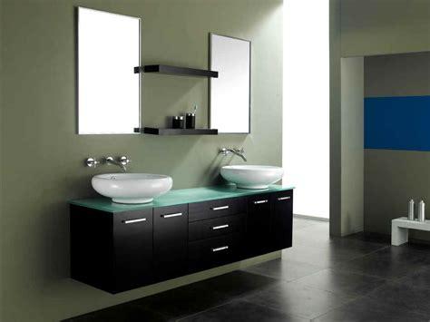 Modern Double Bathroom Vanities With Floating Walnut