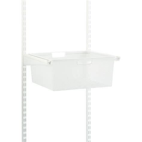 white elfa classic 18 quot mesh hanging drawers frame the
