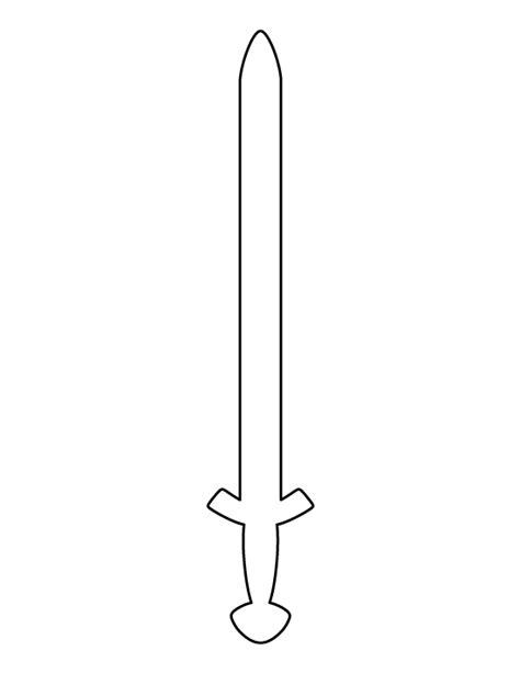sword template printable viking sword template
