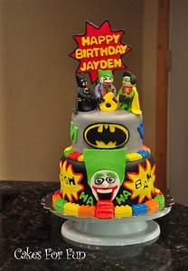 Batman Lego Cake - CakeCentral com
