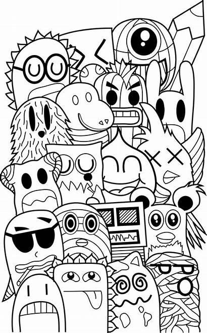 Doodle Coloring Monster Friends Google Doodles Pages