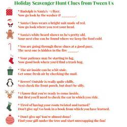 printable holiday scavenger hunt clues make present finding fun between us parents