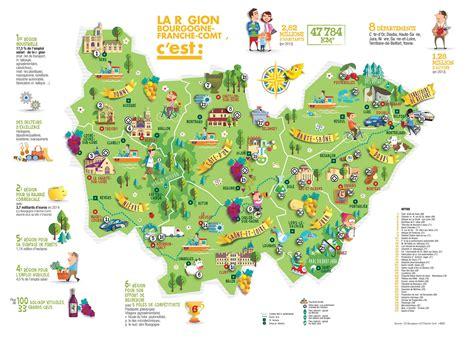 Carte Touristique Du Centre De La by Franche Comt 233 Carte Touristique Voyages Cartes