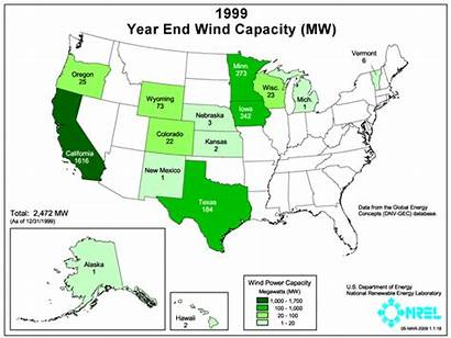 Wind Power Installed States Energy Capacity Map