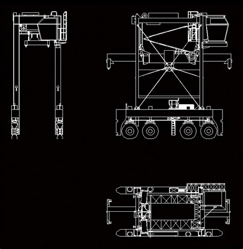 container shuttle dwg block  autocad designs cad