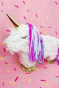 Pinata Basteln Pferd : diy einhorn pi ata selber machen diy idee f r deine n chste party ~ Frokenaadalensverden.com Haus und Dekorationen