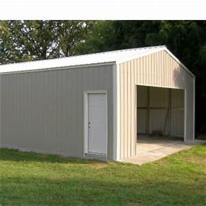 20 ft x 18 ft x ft versatube steel frontier garage kit With 18 ft metal roofing
